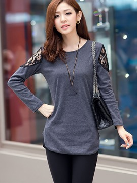 Ericdress Hollow Detail Casual T-Shirt