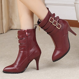 Ericdress Sexy Point Toe Buckles High Heel Boots