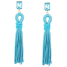 Ericdress Long Tassel Earrings