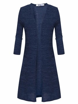 Ericdress Solid Color Cardigan Knitwear