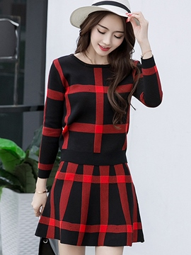 Ericdress Casual Plaid Suit