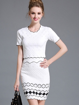 Ericdress Ladylike Wave Pattern Suit