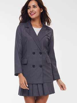 Ericdress Classical Double-Breasted Blazer Suit