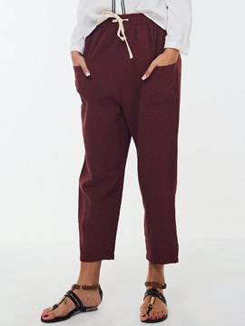 Ericdress Straight Loose Nine Points Pants