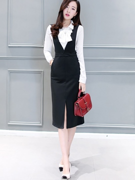 Ericdress Sweet Suspender Dress Suit