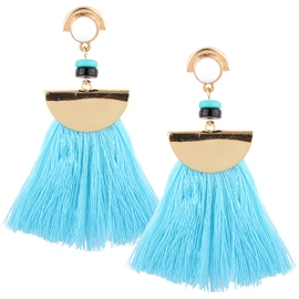 Ericdress Fan Shaped Tassel Earrings