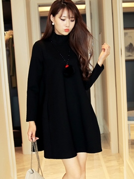 Ericdress Loose Long Sleeve A-Line Casual Dress