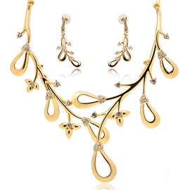 Ericdress Party Gold Diamante Jewelry Set