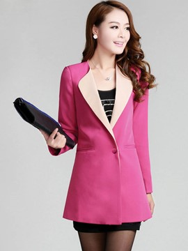 Ericdress Color Block Slim Blazer