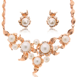 Ericdress White Pearls Inlaid Jewelry Set