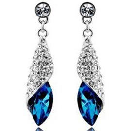 Ericdress Shining Crystal Pendant Earrings