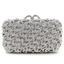 Ericdress Ladylike Hollow Diamante Evening Clutch