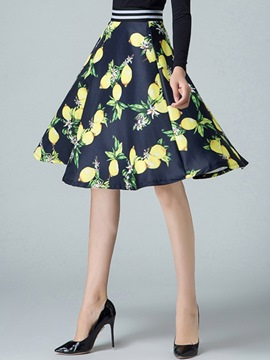 Ericdress Elegant Print Usual Skirt
