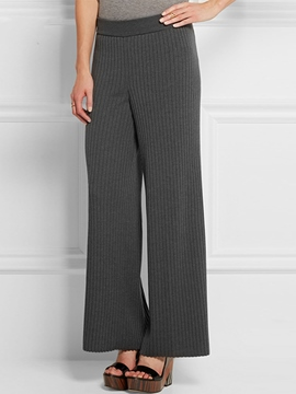Ericdress Simple Knitted Wide legs Pants