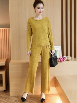 Ericdress Simple Solid Color Pants Leisure Suit