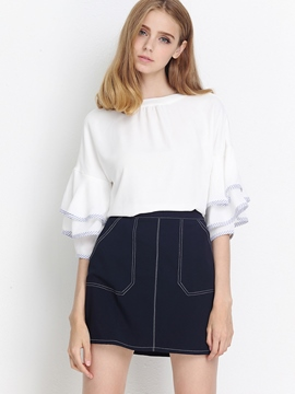 Ericdress Loose Frill Blouse