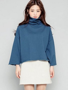 Ericdress Turtle Neck Loose T-Shirt
