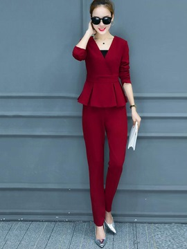 Ericdress Fashion Frill Top Suit