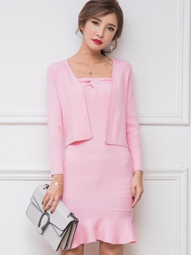 Ericdress Sweet Dress Knitwear Suit