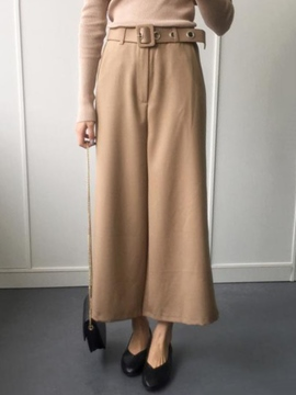 Ericdress Solid Color Wide legs Flared Pants