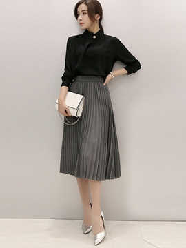 Ericdress Ladylike Pleated Skirt Suit