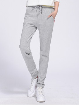 Ericdress Simple Comfortable Lace-Up Pants