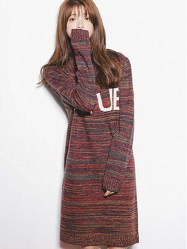 Ericdress Turtleneck Straight Sweater Dress
