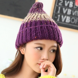 Ericdress Vogue Color Block Knitted Hat