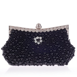 Ericdress Pearl Diamante Embroidery Evening Clutch
