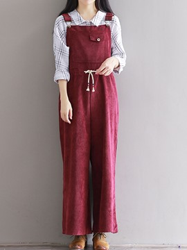 Ericdress Loose Casual Suspender Pants
