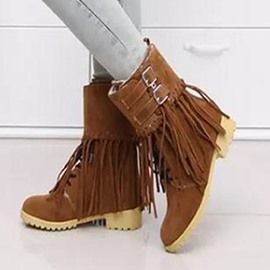 Ericdress Sweet Tassel Lace-Up Ankle Boots