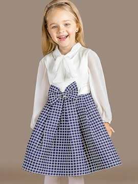 Ericdress Plaid Patchwork Sleeveless Girls Dress