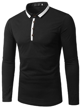 Ericdress Long Sleeve Slim Men's Polo T-Shirt