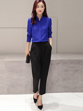 Ericdress Simple Color Block Formal Suit