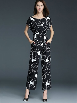 Ericdress Casual Print Jumpsuits Pants