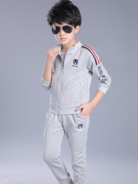 Ericdress Stand Collar Zipper Two-Piece Boys Outfit