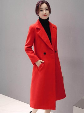 Ericdress Slim Solid Color Elegant Coat