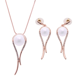 Ericdress Simple Pearl Two Pieces Jewelry Set