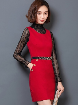 Ericdress Ladylike Bodycon Dress Suit
