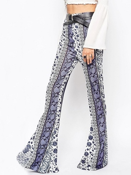 Ericdress Fashion Print Flared Pants