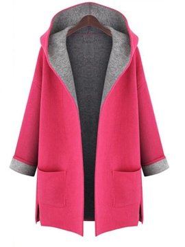 Ericdress Color Block Plus Size Casual Trench Coat