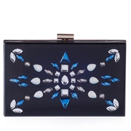 Ericdress Vogue Diamante Acrylic Evening Clutch