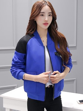 Ericdress Color Block Loose Casual Jacket