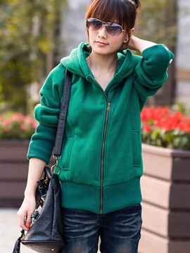 Ericdress Casual Solid Color Hoodie