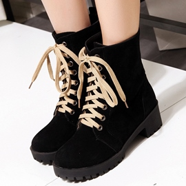 Ericdress Classical Lace-Up Ankle Boots