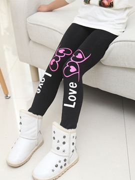 Ericdress Letter Printed Girl's Leggings