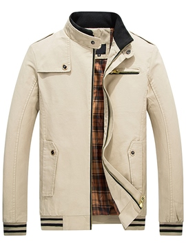 Ericdress Thin Casual Zip Men's Jacket
