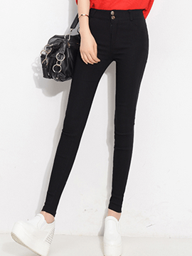 Ericdress Solid Color Simple Leggings Pants