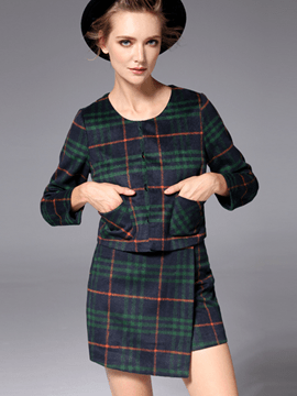 Ericdress Unique Fashion Plaid Suit
