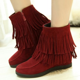 Ericdress Sweet Tassel Zipper Ankle Boots